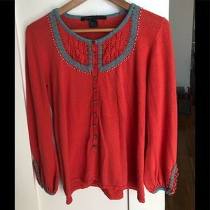 Marc Jacobs embroidered sweater Sz L
